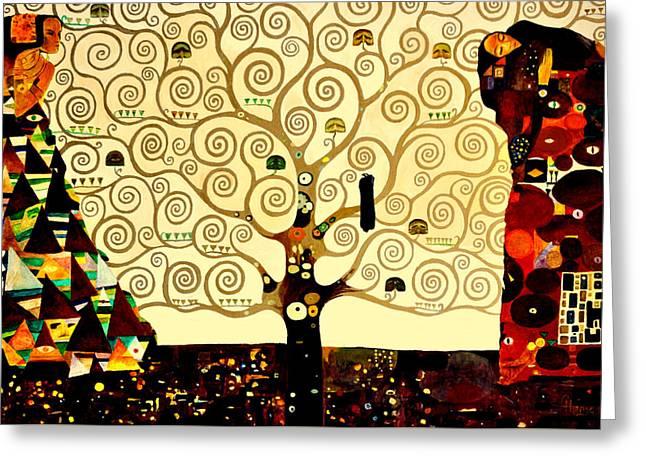 Gorecki Greeting Cards - Tree of Life Greeting Card by Henryk Gorecki