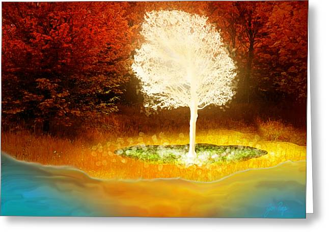 Pages Of Life Digital Art Greeting Cards - Tree of Life Greeting Card by Jennifer Page