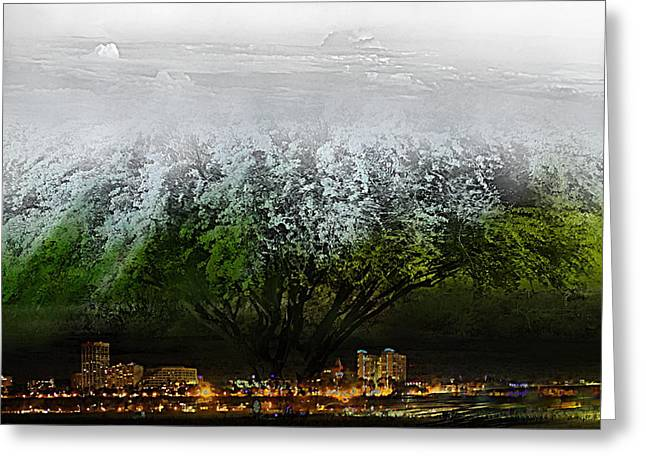City Lights Greeting Cards - Tree of Life Greeting Card by Kume Bryant
