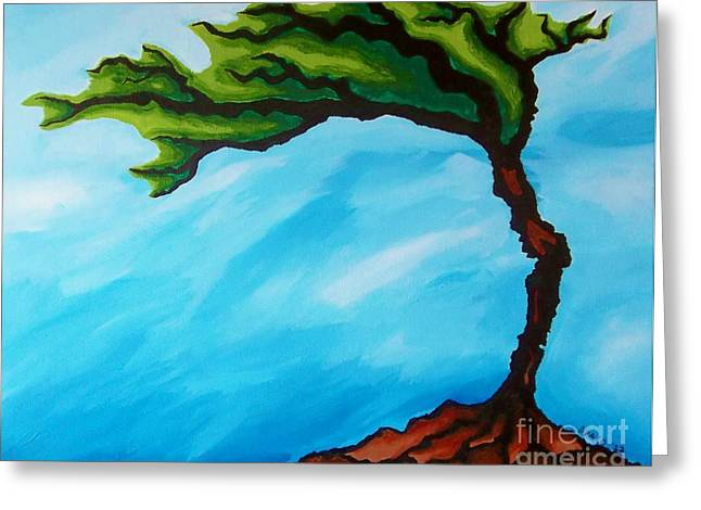 Macrocosm Paintings Greeting Cards - Tree of Life Greeting Card by Tiffany Buttcher
