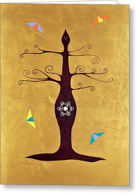 Transformation Of Life Greeting Cards - Tree Of Life  Turiya Greeting Card by Elle Nicolai