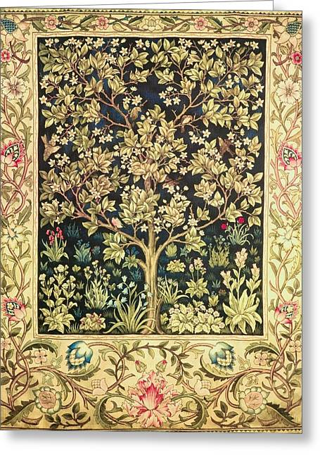 Medieval Tapestries Greeting Cards - Tree Of Life Greeting Card by William Morris