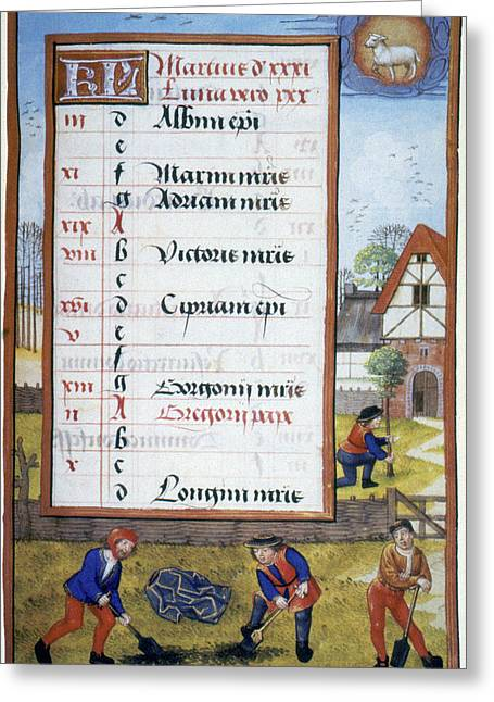Tree Planting, C1500 Greeting Card by Granger