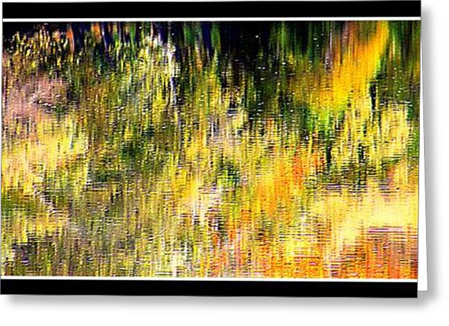 Stein Greeting Cards - Tree reflections Autumn Water Greeting Card by Valerie Stein