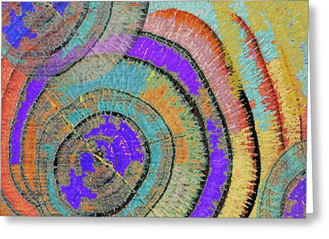 Tree Ring Abstract 3 Greeting Card by Tony Rubino