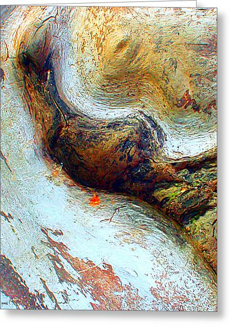 Tree Roots Paintings Greeting Cards - Tree Root Greeting Card by Daniel Janda