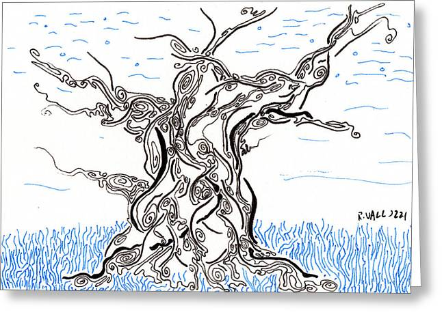 Spririt Greeting Cards - Tree Spirit Greeting Card by Regina Valluzzi