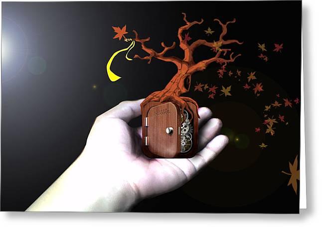Racquel Delos Santos Greeting Cards - Treeclock Greeting Card by Racquel Delos Santos