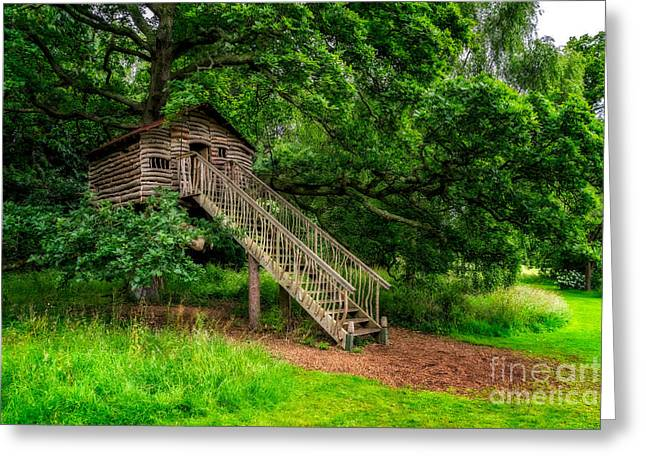 Treehouse Greeting Cards - Treehouse Greeting Card by Adrian Evans
