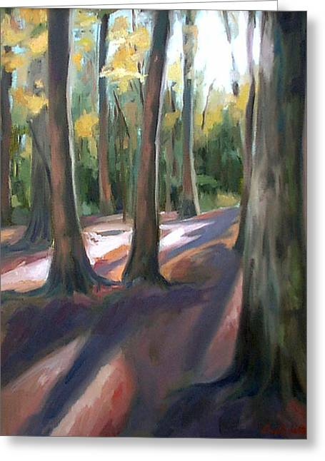 Natchez Trace Parkway Greeting Cards - Trees at Glenrock Branch Greeting Card by Erin Rickelton
