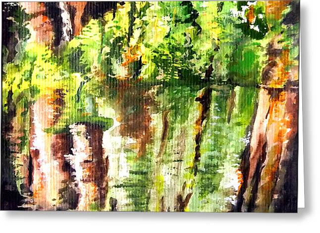 Trees Greeting Card by Daniel Janda