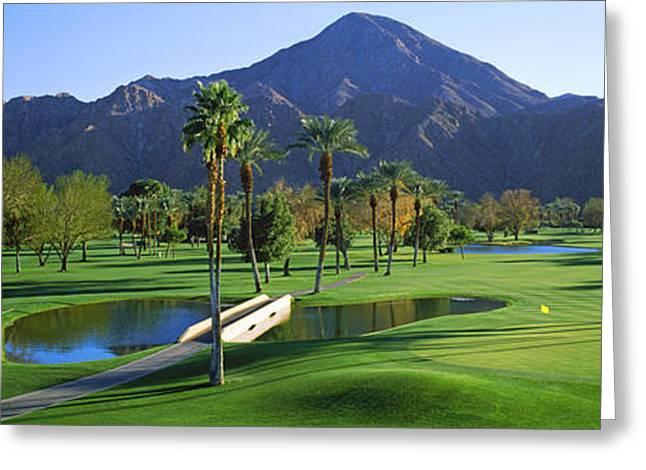 El Dorado Greeting Cards - Trees In A Golf Course, El Dorado Greeting Card by Panoramic Images