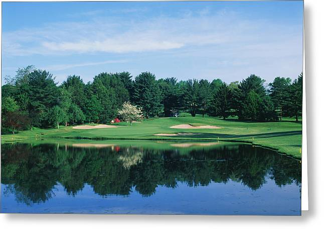 Wilmington Greeting Cards - Trees In A Golf Course, Wilmington Greeting Card by Panoramic Images