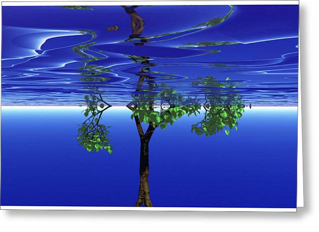 Mainly Blue Greeting Cards - Trees In Heaven Greeting Card by Wayne Bonney