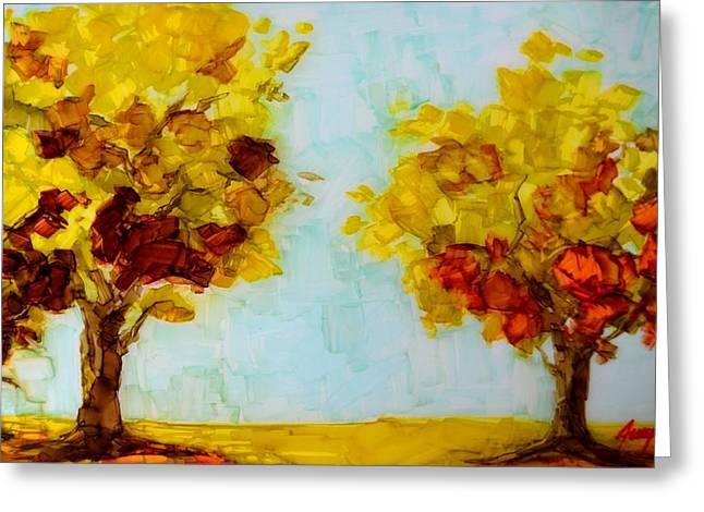 Trees in the Fall Greeting Card by Patricia Awapara