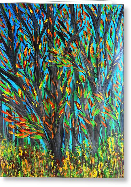 Posh Paintings Greeting Cards - Trees Greeting Card by Maggie Ullmann