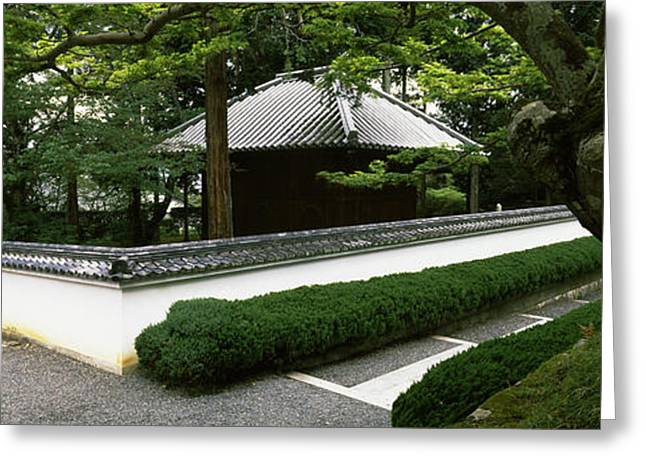Honshu Greeting Cards - Trees Near A Temple, Nanzenji Temple Greeting Card by Panoramic Images
