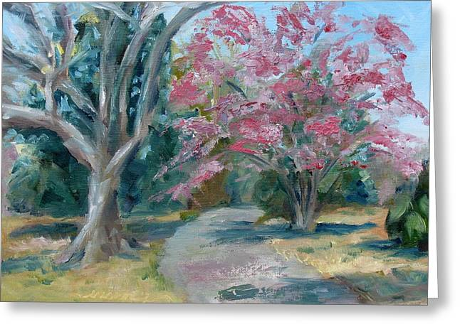 Carnton Plantation Greeting Cards - Trees of Windermere Greeting Card by Susan E Jones