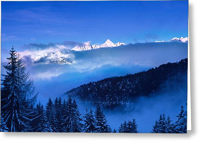 Days Pass Greeting Cards - Trees On A Polar Landscape, Simplon Greeting Card by Panoramic Images
