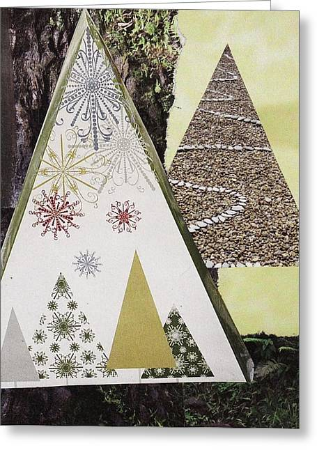 Stonewall Mixed Media Greeting Cards - Trees on stone Greeting Card by Matthew Hoffman