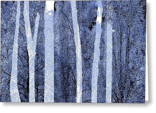 Trees Square Greeting Card by Tony Rubino