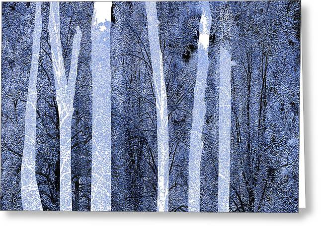 Winter Trees Mixed Media Greeting Cards - Trees Square Greeting Card by Tony Rubino