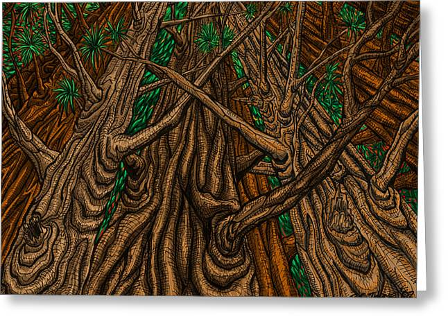 Sketchbook Greeting Cards - Trees Greeting Card by Transcend Designs