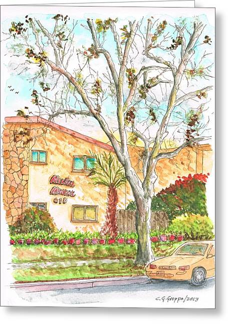 Ocre Greeting Cards - Trees without leaves in Hollywood-California Greeting Card by Carlos G Groppa