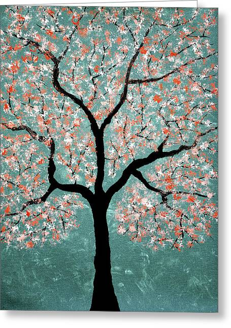 Tree Roots Pastels Greeting Cards - Treescape 1 Greeting Card by Sumit Mehndiratta