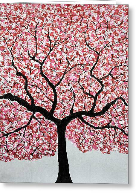 Blossoming Greeting Cards - Treescape 4 Greeting Card by Sumit Mehndiratta