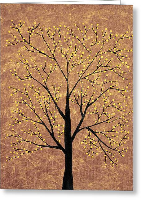 Flower Buds Greeting Cards - Treescape 6 Greeting Card by Sumit Mehndiratta