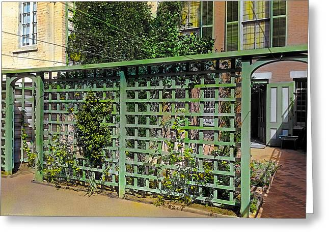 Urban Paintings Greeting Cards - Trellis Greeting Card by Terry Reynoldson