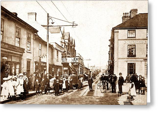 Camborne Greeting Cards - Trelowarren Street Camborne England Greeting Card by The Keasbury-Gordon Photograph Archive