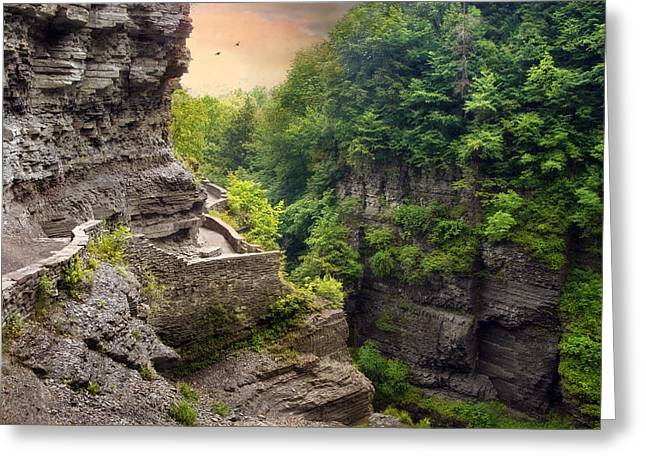 Ithaca Greeting Cards - Treman Trail Greeting Card by Jessica Jenney