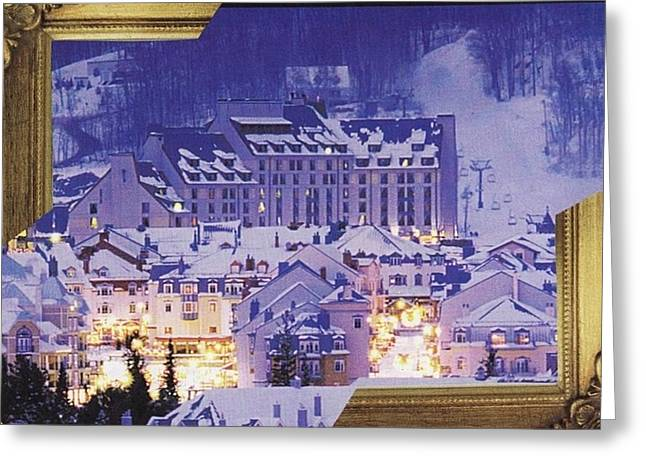 Skiing Art Cards Greeting Cards - Tremblant Greeting Card by Matthew Hoffman