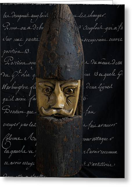 Intuited Greeting Cards - Trench Art Man Greeting Card by Izabella West