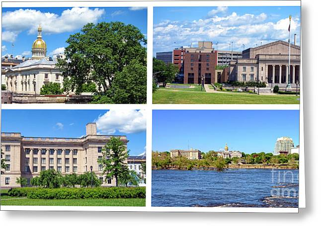 Assembly Greeting Cards - Trenton New Jersey Greeting Card by Olivier Le Queinec