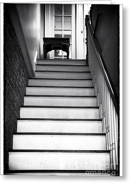 Wooden Steps Greeting Cards - Trepidation Greeting Card by John Rizzuto