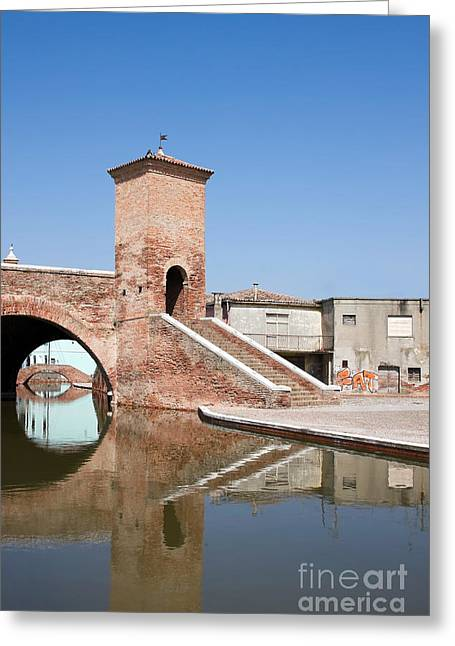 Delta Town Greeting Cards - Trepponti bridge Greeting Card by Gabriela Insuratelu