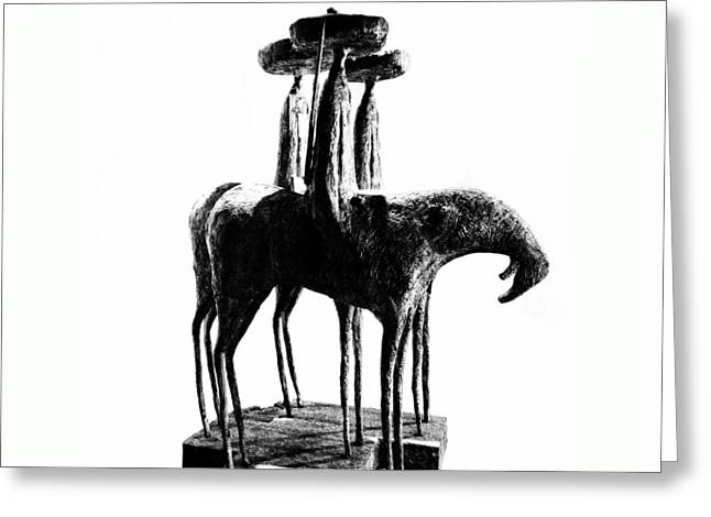 Mexican Sculpture Greeting Cards - Tres Amigos Greeting Card by Natasha Marco