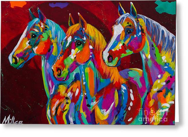 Colorado Artist Tracy Miller Greeting Cards - Tres Bellezas Greeting Card by Tracy Miller