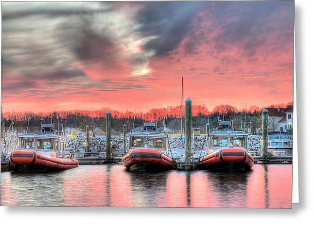 Homeland Greeting Cards - Tres Gunboats Greeting Card by JC Findley