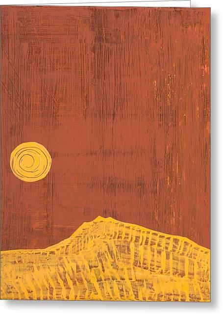 Tres Orejas Original Painting Greeting Card by Sol Luckman