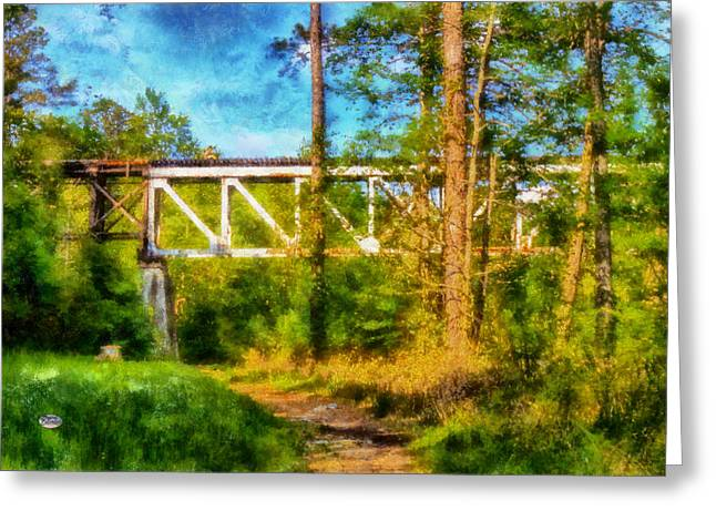 Olde Greeting Cards - Trestle and Trail Greeting Card by Daniel Eskridge