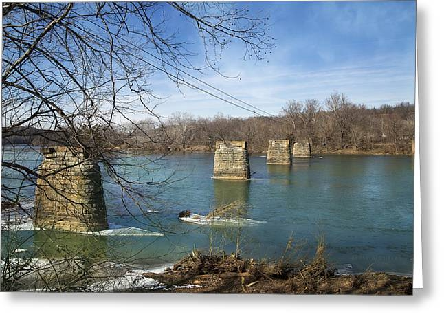 Rapids Greeting Cards - Trestle of the Past Greeting Card by Betsy C  Knapp