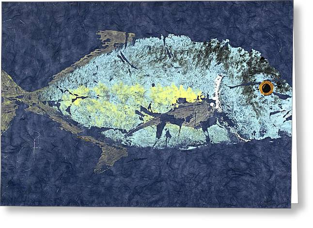 Gyotaku Greeting Cards - Gyotaku Trevalley Greeting Card by Warren Sellers