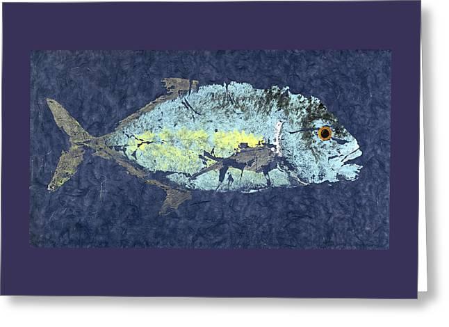 Gyotaku Trevally Greeting Card by Captain Warren Sellers