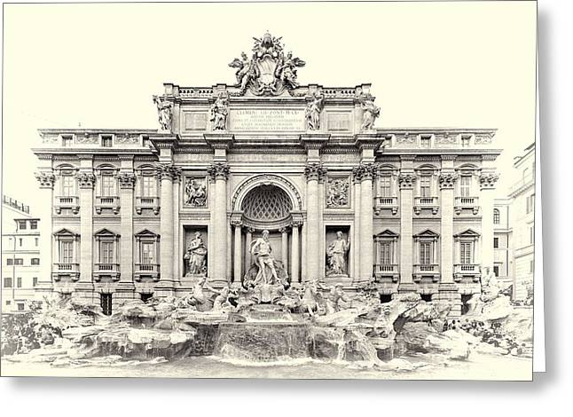 Trevi Fountain In Rome Italy Greeting Card by Dan Sproul
