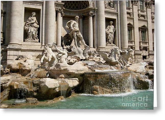 Famous Photographer Greeting Cards - Trevi Fountain in Rome Italy Greeting Card by John Malone