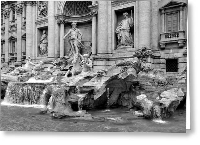 Throwing Stones Greeting Cards - Trevi fountain Greeting Card by Patrick Jacquet